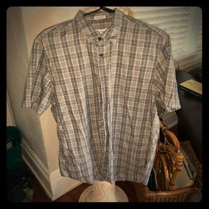 Men's CK button up collar -MEDIUM
